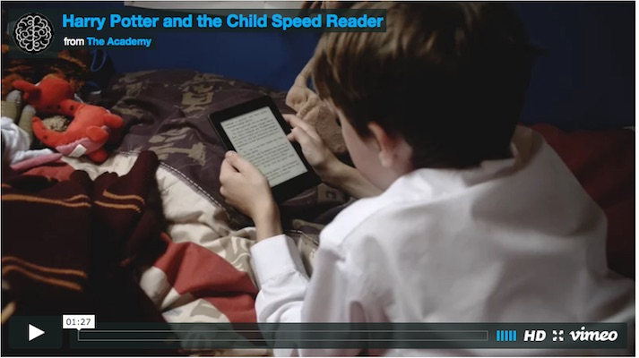 Harry Potter and the Child Speed Reader