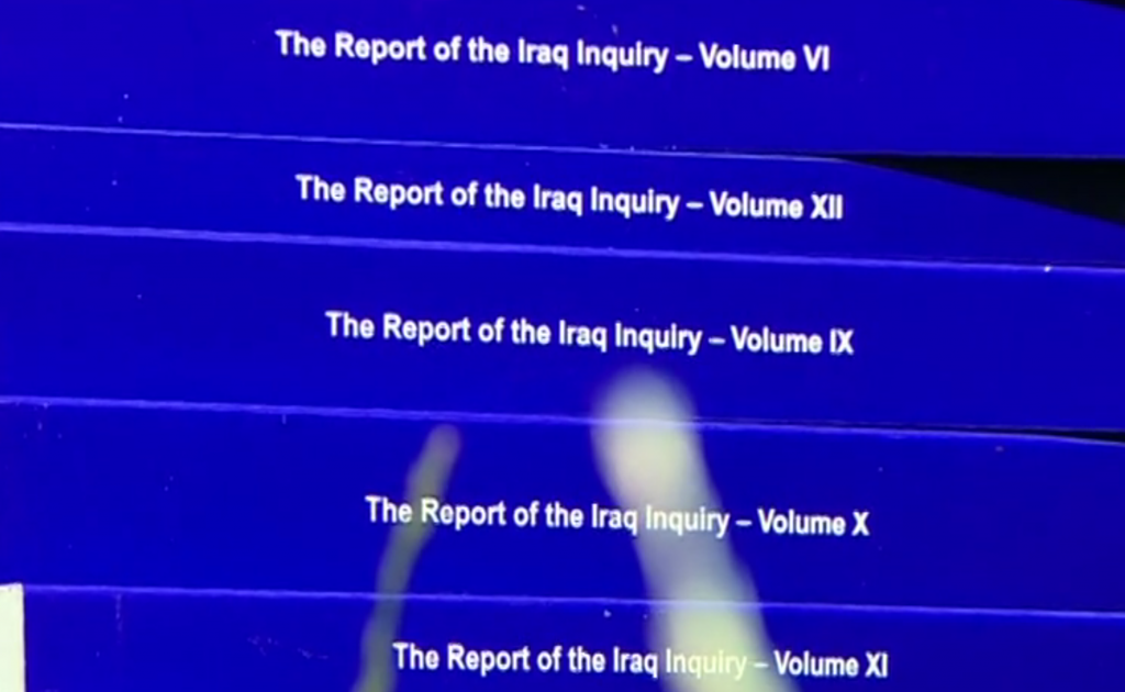 Speed reading of the Chilcot Report 2016