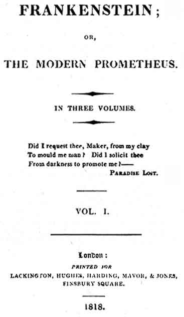 Summary of Frankenstein; or, The Modern Prometheus by Mary Shelley