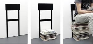 Florian Kremb's quirky 'reading chair' wall sticker (£30.65; www.hiddenartshop.com)