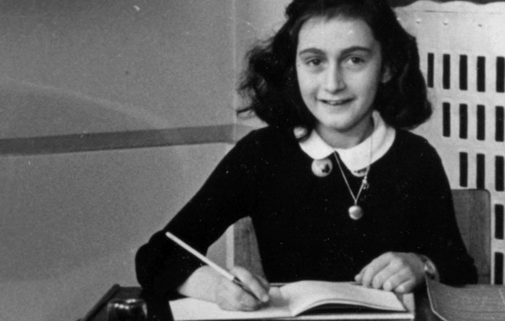 Ann Frank holding her pen ergonomically