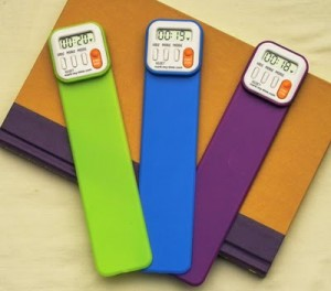 Digiatl bookmarks to time your speed reading