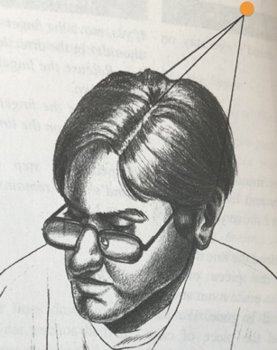 Concentration point for speed reading from The Gift of Dyslexia